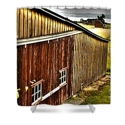 Wine Barn Shower Curtain by William Norton
