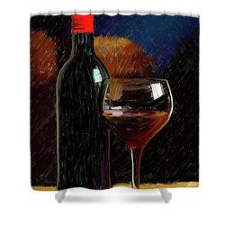 Wine Cellar 01 Shower Curtain by Wally Hampton