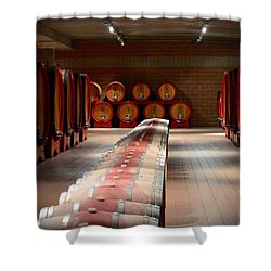 Wine Cellar In Montalcino Shower Curtain