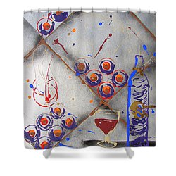 Wine Connoisseur Shower Curtain by J R Seymour