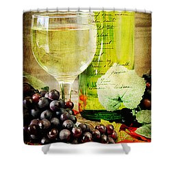 Wine Shower Curtain by Darren Fisher