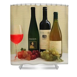 Wine Display Barn Door  Shower Curtain by Dan Sproul