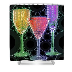 Wine Glass Art-1 Shower Curtain