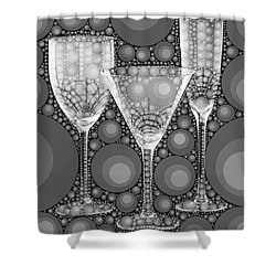Wine Glass Art-2 Shower Curtain