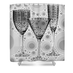 Wine Glass Art-3 Shower Curtain
