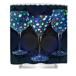 Wine Glass Art-4 Shower Curtain
