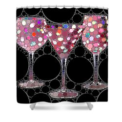 Wine Glass Art-5 Shower Curtain