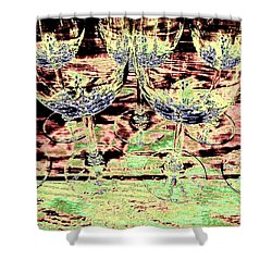 Wine Glasses Shower Curtain by Will Borden