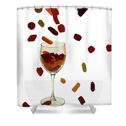 Shower Curtain featuring the photograph Wine Gums Sweets by David French