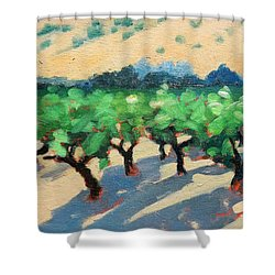 Shower Curtain featuring the painting Wine Habitat by Gary Coleman