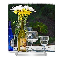Wine Me Up Shower Curtain by Debbi Granruth