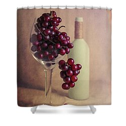 Wine On The Vine Shower Curtain by Tom Mc Nemar