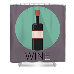 Wine Poster Print - Win And Wine Shower Curtain