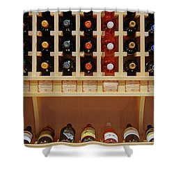 Shower Curtain featuring the photograph Wine Rack - 1 by Nikolyn McDonald