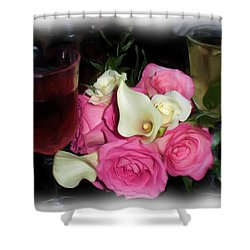 Wine, Roses And Promises Shower Curtain
