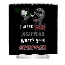 Wine Superpower Skeleton Fantasy Art Shower Curtain