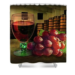 Shower Curtain featuring the photograph Wine Tasting by Hanny Heim