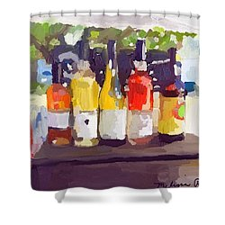 Wine Tasting Tent At Rockport Farmers Market Shower Curtain