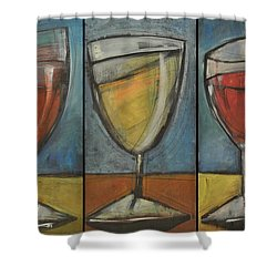 Wine Trio - Option One Shower Curtain by Tim Nyberg