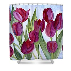 Wine Tulips Shower Curtain