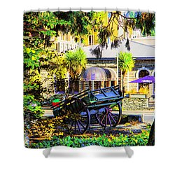 Wine Wagon Shower Curtain