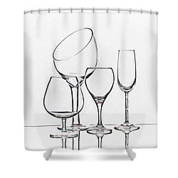 Wineglass Graphic Shower Curtain