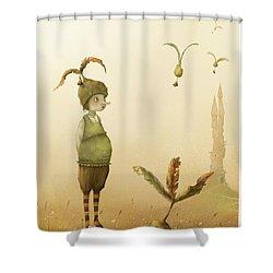 Wing-nut, Morning Bells Shower Curtain