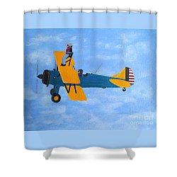 Wing Walker Shower Curtain