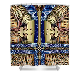 Winged Anubis Shower Curtain by Jim Pavelle