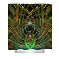 Winged Bug Shower Curtain by Cherie Duran