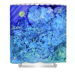Winged Chaos Under The Moon Shower Curtain