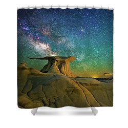 Winged Guardians Shower Curtain