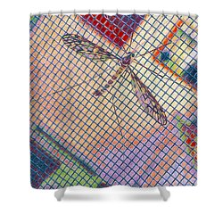 Winged Insect. Shower Curtain