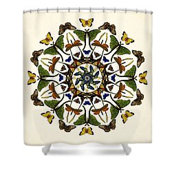 Winged Kaleidoscope Shower Curtain by Deborah Smith