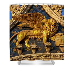 Winged Lion Shower Curtain by Harry Spitz