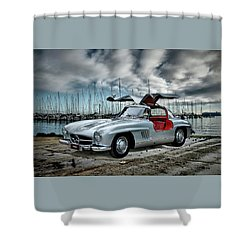 Winged Merc Shower Curtain