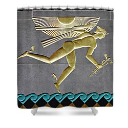Shower Curtain featuring the photograph Winged Mercury by Sarah Loft
