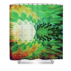 Winged Migration Shower Curtain by Paula Ayers