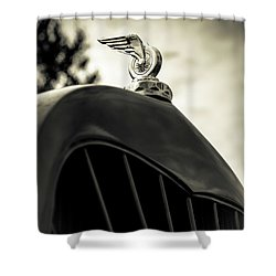 Winged Wheel Shower Curtain by Caitlyn Grasso