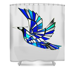 Wings Shower Curtain by Asok Mukhopadhyay