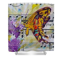 Wings II Shower Curtain by Beverley Harper Tinsley