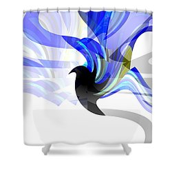 Wings Of Freedom Shower Curtain by Thibault Toussaint