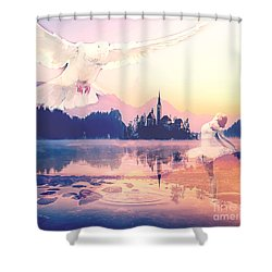 Wings Of Grace Shower Curtain