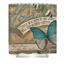 Wings Of Hope Shower Curtain by Debbie DeWitt