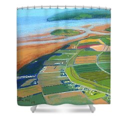 Wings Over Grand Pre' Shower Curtain