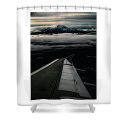 Wings Over Rainier Shower Curtain