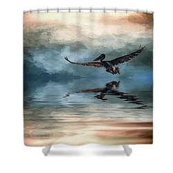 Wings Up Shower Curtain by Cyndy Doty