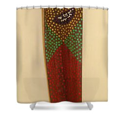 Winky The Palm Frond Shower Curtain by Deborah Boyd