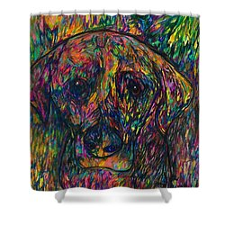 Winnie The Dog Shower Curtain