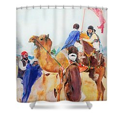 Winning Celebration Shower Curtain by Khalid Saeed